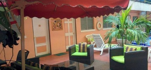 Cabana in the courtyard by the pool