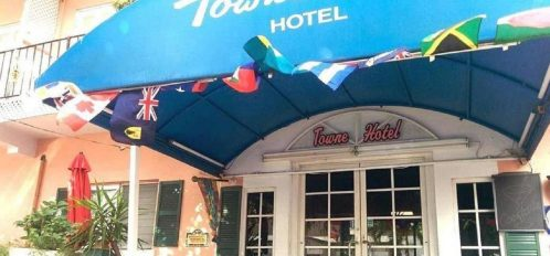 Front of hotel with canopy