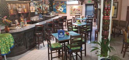 Seating at bar and Talking Stick restaurant