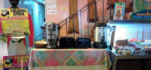 The Talking Stick buffet with toasters and drinks