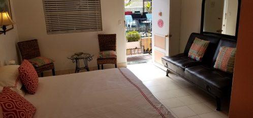junior suite view to door